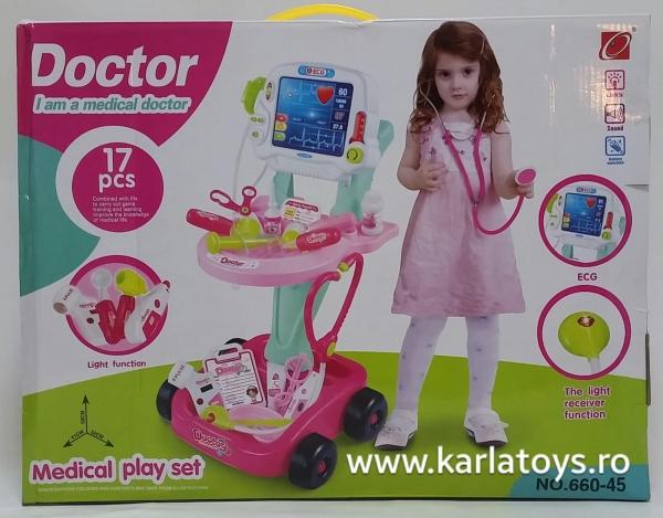 Trusa Doctor troler cu afisaj copii - 17 accesorii 3