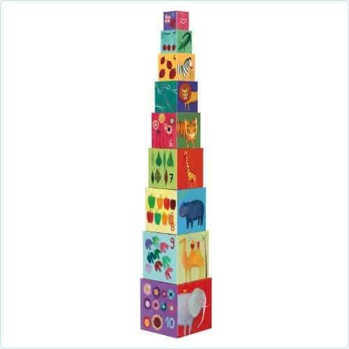 Turn Montessori 10 cuburi Natura 0